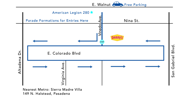 Doo Daa Parade Map